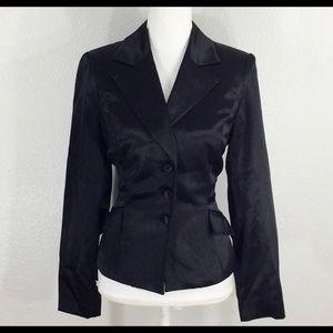 NWT Kay Unger Black silk blazer jacket
